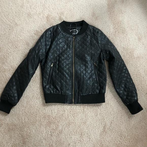 Ambiance Jackets & Blazers - Ambiance Black Leather Jacket S